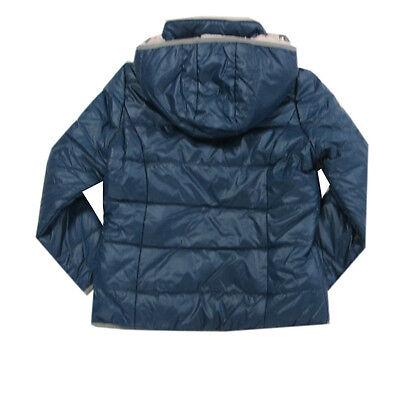 Blue Flame Jacke Winterjacke Blau Kapuze Kinder Anorak Mädchen Gr.128,140,152 2