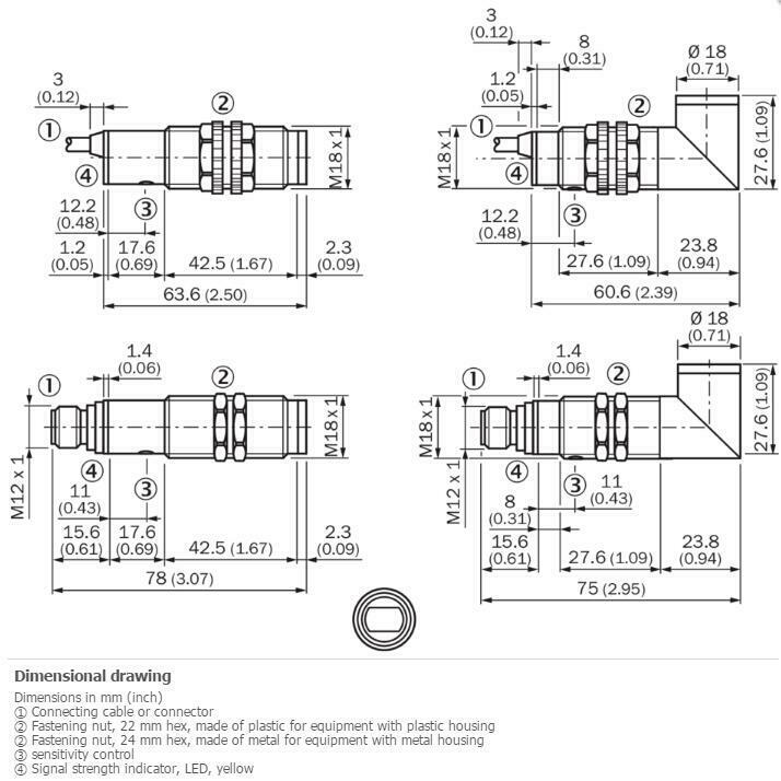 H● SICK VTF18-3E5240 Photoelectric proximity sensor NPN New 4