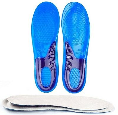 Arch Support Shoe Inserts Gel Insoles Orthotic Shoes Running Work Boots Any Size