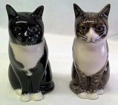 QUAIL CERAMIC POPPET /& OLIVER CAT SALT /& PEPPER POTS CONDIMENT OR CRUET SET