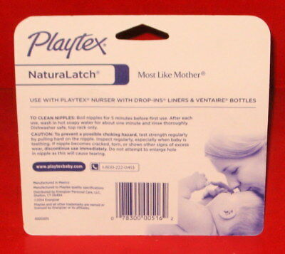 (6) Playtex Naturalatch Silicone Baby Bottle Nipples 3+ Months Medium Flow New