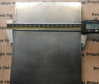 """1/2 X 6 Flat Steel Bar 1018 Machining Cold Rolled 0.500 Smooth Finish 12"""" L 6"""