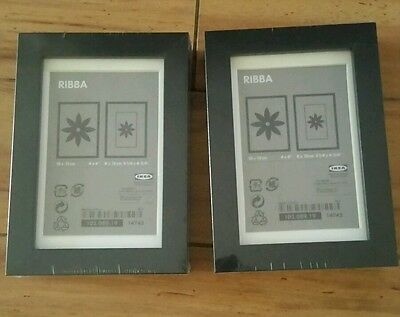 Ikea Ribba 4x6 Picture Frame Wood Grain Set Of 2 New 1500