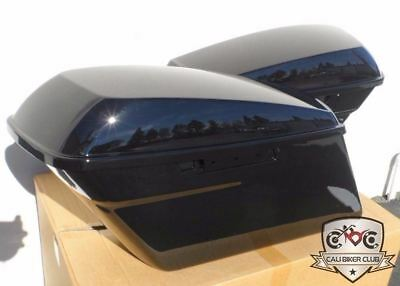 Black Saddlebag Carpet Liner Kit for 2014-2019 Harley-Davidson ABS Saddlebags