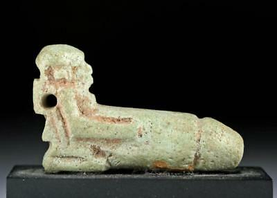 Egyptian Faience Erotic Amulet - Ithyphallic Dwarf Lot 5