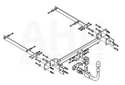 Für Mercedes-Benz S204 Kombi C-Klasse Anhängerkupplung abnehmbar+ESatz 7pol ABE