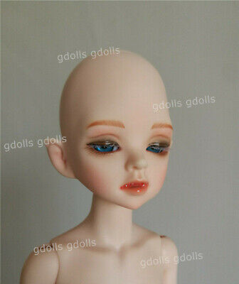 1//6 BJD Doll Girl Baby free eyes+face make up resin Tan Skin half-colsed eyes