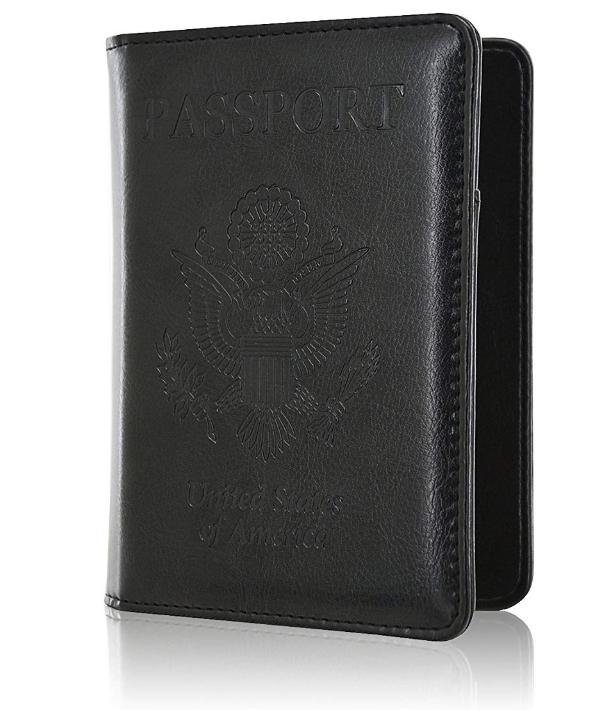 Slim Leather Travel Passport Wallet Holder RFID Blocking ID Card Case Cover US 9