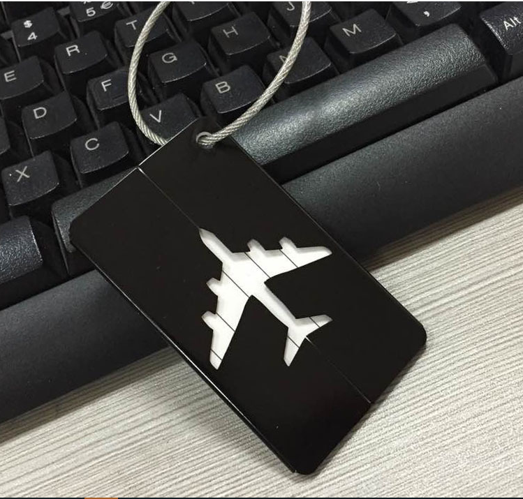 Travel Luggage Tag Metal Suitcase Baggage Bag Office Name Address ID Label 4