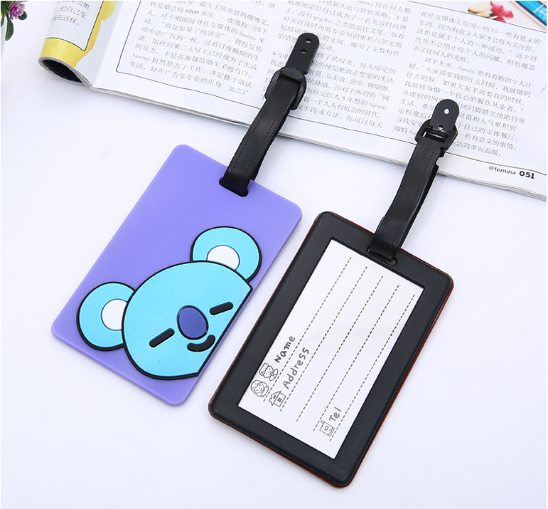 Silicone Travel Luggage Tags Colorful Suitcase Label Name Address  Baggage Tag 7