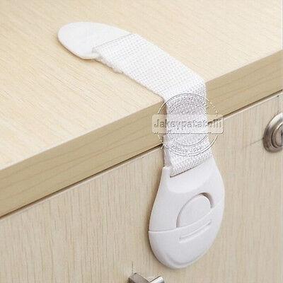10 x Child Baby Cupboard Cabinet Safety Locks Proofing Door Drawer Fridge Kids 6