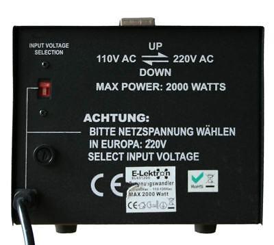 2000W Spannungswandler 230-110 Volt Converter USA Wandler Step-up Step-down NEU 3