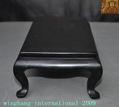 Old Chinese Rosewood Wood Carved Ancient Furniture coffee table Tea table desk 5