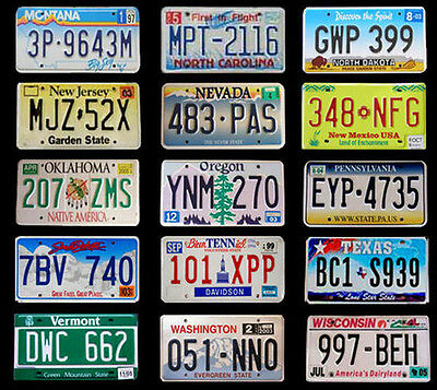 50 united states license plates set number tag usa lot. Black Bedroom Furniture Sets. Home Design Ideas