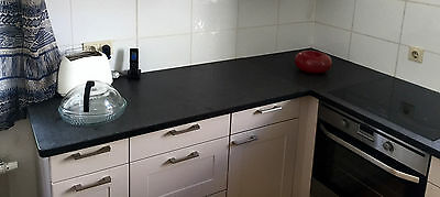 Kuchenarbeitsplatte Granit Nero Assoluto Antik Arbeitsplatte