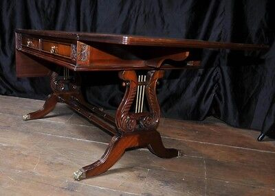 Mahogany Regency Coffee Table Extending Tables Desk