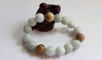 Gemstone Genuine Natural Jade (Grade A) Multi-Color Jadeite Beads Bracelet 13mm 4