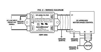 KB Electronics KBRF-200A RFI (EMI) filter 9945 4