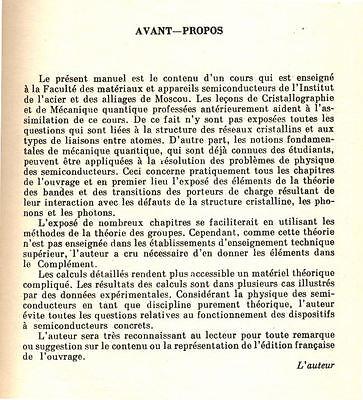 P. Kiréev, La Physique Des Semiconducteurs