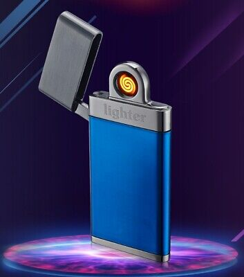 Cigarette Flameless Lighter Electric Rechargeable Metal Windproof Single-Arc USB 3