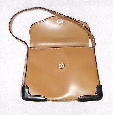 2575a8393e ... KESSLORD sac à main cuir beige coins renforcés plastique noir TBE 4