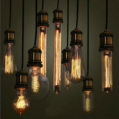 Vintage Retro Filament Edison Antique Industrial Style Lamp Light Bulb E27 40W 9