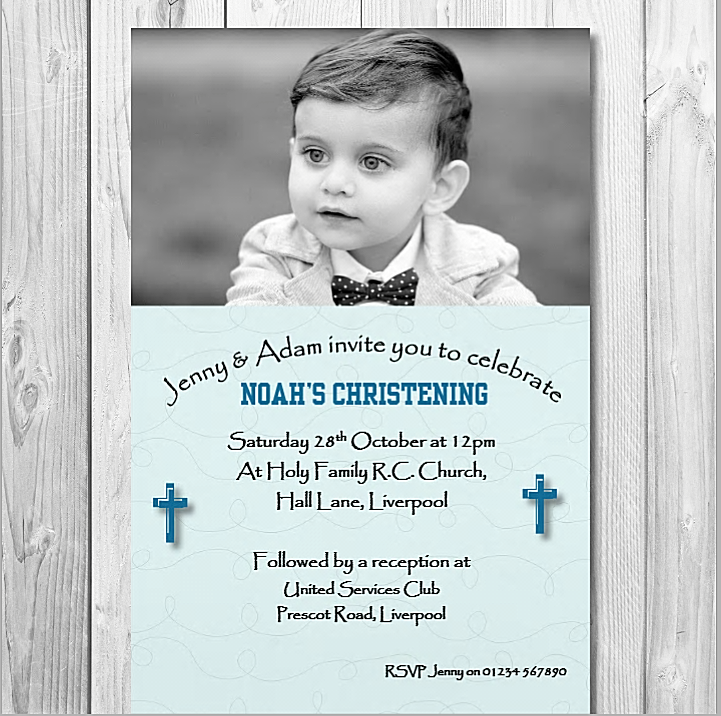 10 Personalised Christening Invitations Card Boy Girl Christening Invite Cards