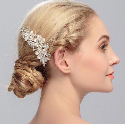 SPOSA hochtzeit fermagli per Capelli accessorio Strass fiori cristallo oro banco 2