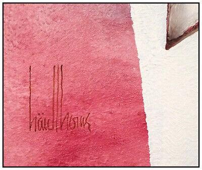 Botín Casa Original Pintura Al Óleo sobre Tabla Alivio Escultura Firmado Moderno 7