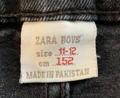 Zara Boys Faded Skinny Fit Black Jeans Aged 11-12 Years 4