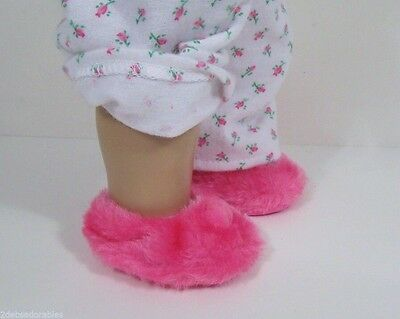 """Debs PINK Chenille Butterfly Robe Slippers Doll Clothes For 18/"""" American Girl"""
