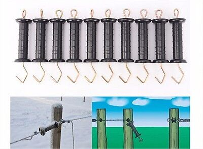 20pcs Durable Heavy Duty Electric Fence Farm Gate Handles With Spring Black 6