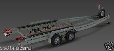 Trailer Plans - BOAT TRAILER PLAN - 7m (21ft) Mono-hull - PLANS ON CD-ROM 3