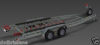 Trailer Plans - BOAT TRAILER PLANS - 7m(21ft) Monohull -PLANS ON USB Flash Drive 2