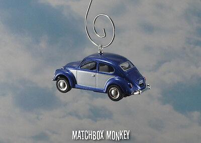 67 Clic Blue Two Tone Volkswagen Beetle Christmas Ornament Vw Bug Herbie 1 64