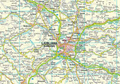 Cartina Slovenia Stradale.Slovenia Croazia Cartina Stradale Scala 1 300 000 Carta Mappa Belletti Srl Eur 8 00 Picclick It