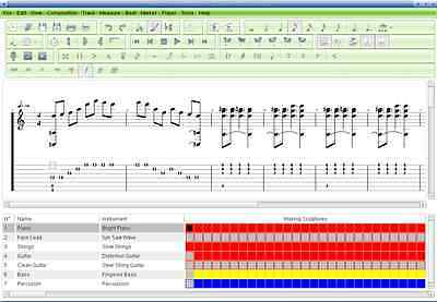 divers styles commercialisable belle couleur T REX GUITAR Tabs Tablature Lesson Software CD 75 Songs Book ...