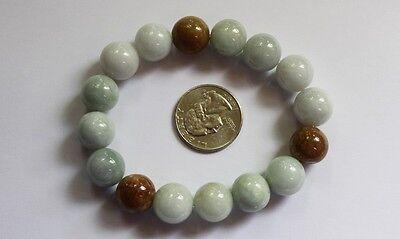 Gemstone 100% Natural JADE (Grade A) Untreated Jadeite Beaded Bracelet 13mm 7