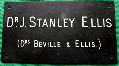 c1900 Brass Vintage Sign Plaque : Glasgow Dr Stanley Ellis Surgeon Physician 3