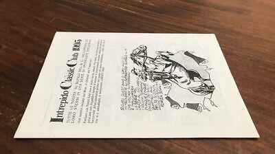 Intrepido Classic Club 1995 / Newsletter + 3 Sketch  Dago, Martin Hel, Nippur 3
