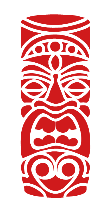 Distressed Filipino Hawaiian Islands sticker decal wood tiki pinoy Philippines