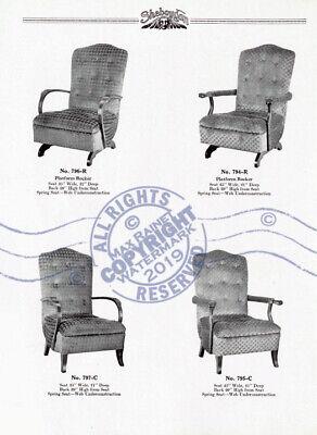 Sheboygan Fiber Furniture 1937 CATALOG Wicker Rattan Upholstered Chairs + Settee 8