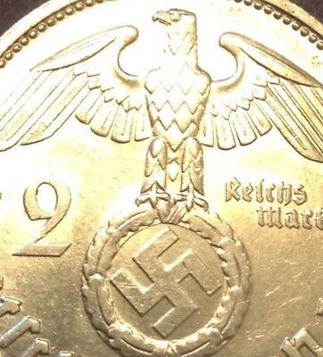 WW2 Silver German Eagle World War 2 Third Reich Nazi Army Military Coin US Old
