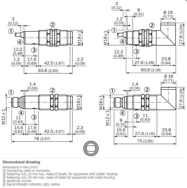 H● SICK VTF18-4N5612 Photoelectric proximity sensor ,NPN New. 2