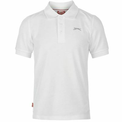 a0a69f217 ... Kids Junior Boys Slazenger Plain Polo Shirt Top Size Age 7 8 9 10 11 12