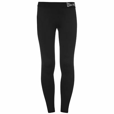 Junior Girls USA Pro Stretch Close Fit Gym Training Tights Sizes Age 5-13 10