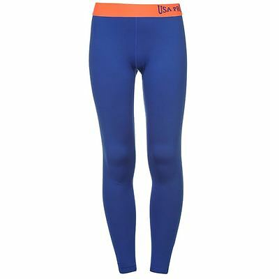 Junior Girls USA Pro Stretch Close Fit Gym Training Tights Sizes Age 5-13 9