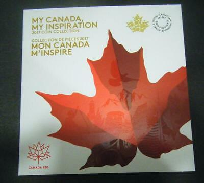2017 Canada 150th Anniversary Collector 7 Coin Set $2 $1 25c 10c 5c Card Holder 2
