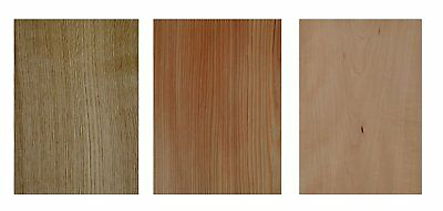 Furnier Set Ahorn Eiche Nussbaum Buche. Basteln Modellbau Restaurierung Holz DIY 3