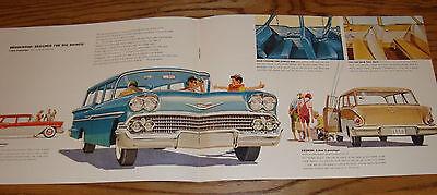 Original 1958 Chevrolet Truck Big Muscled Foldout Sales Brochure 58 Chevy